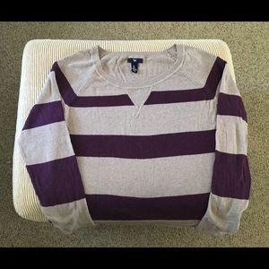 💜GAP💜 Plum striped sweater